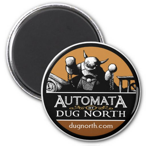 Automata by Dug North 2 Inch Round Magnet