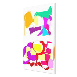 Automatic Coloring Stretched Canvas Print