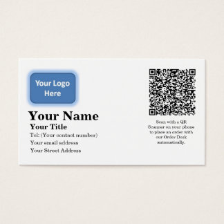 Automatic Email Order Business Card