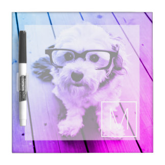 AUTOMATIC Filter of Your Photo & Monogram - Miami Dry-Erase Board