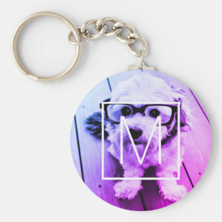 AUTOMATIC Filter of Your Photo & Monogram - Miami Keychain
