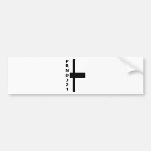 automatic gear-shift lever icon car bumper sticker