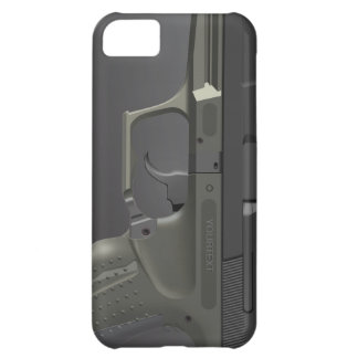 Automatic HandGun iPhone 5 C Case Cover For iPhone 5C