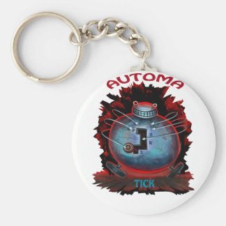 Automatic Basic Round Button Keychain