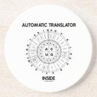 Automatic Translator Inside (RNA Codon Wheel) Beverage Coasters