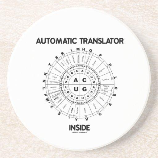 Automatic Translator Inside (RNA Codon Wheel) Drink Coasters