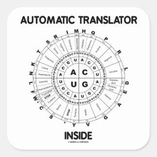 Automatic Translator Inside (RNA Codon Wheel) Square Sticker