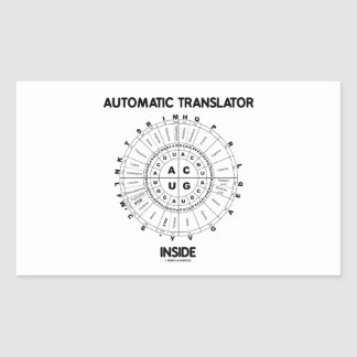 Automatic Translator Inside RNA Codon Wheel Rectangular Stickers