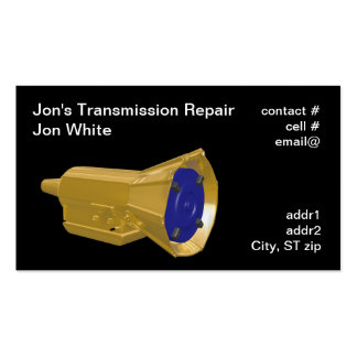 automatic transmission business card