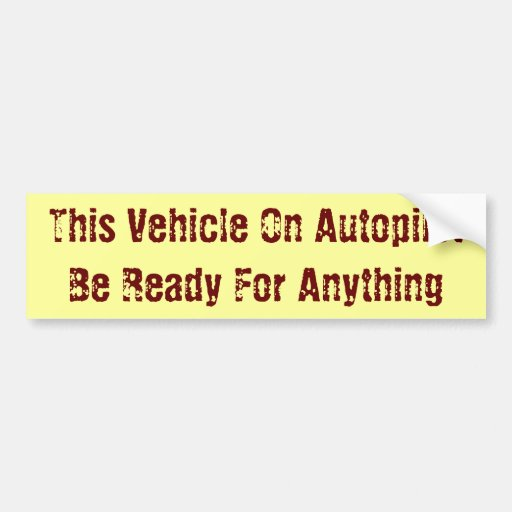 Automation Car Bumper Sticker