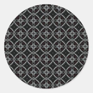 Automaton Pattern Classic Round Sticker