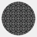 Automaton Pattern Round Sticker