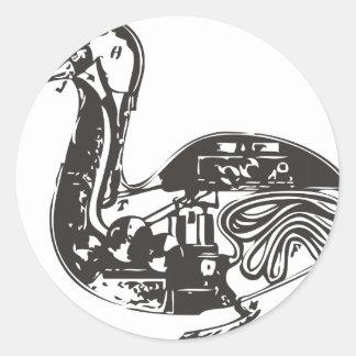 Automaton Robotic Duck Classic Round Sticker