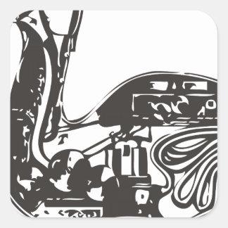 Automaton Robotic Duck Square Sticker