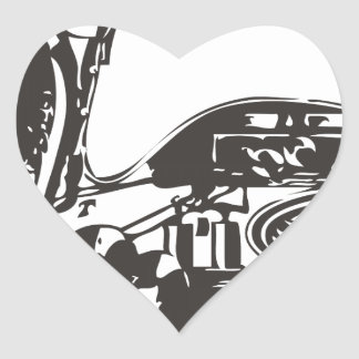 Automaton Robotic Duck Heart Sticker