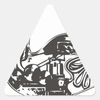 Automaton Robotic Duck Triangle Sticker