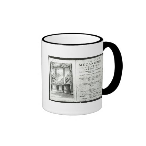 Automatons, illustration of the frontispiece coffee mugs