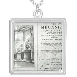 Automatons, illustration of the frontispiece square pendant necklace