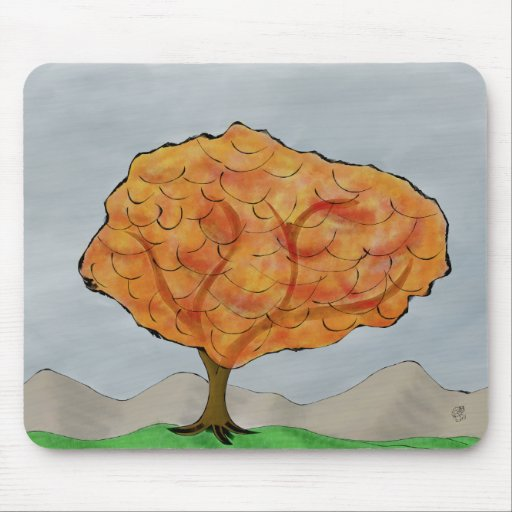 Automn Tree Mouse Pad