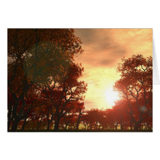 Automne 1 greeting card