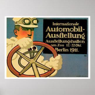 Automobil-Ausftellung Vintage Poster