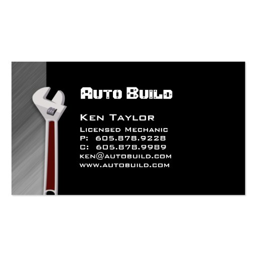 Automobile / Auto Mechanic Business Card