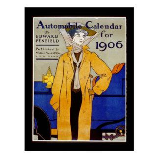 """Automobile Calendar for 1906"" Postcard"