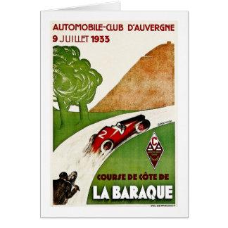 Automobile Club D'Auvergne 1933 Card