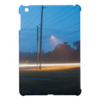 Automobile headlights early morning fog iPad mini cover