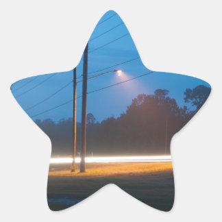 Automobile headlights early morning fog star sticker