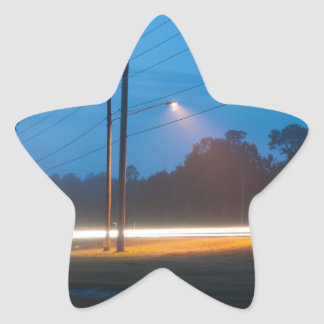 Automobile headlights early morning fog star sticker