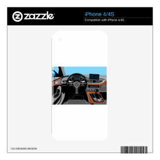 Automobile Interior Skin For The iPhone 4
