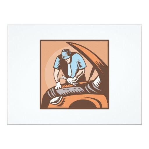 Automobile Mechanic Car Repair Card