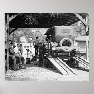 Automobile Service Station, 1924. Vintage Photo Poster