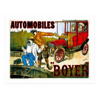 Automobiles Boyer - Vintage Postcard