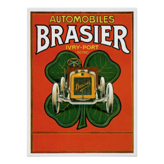 Automobiles Brasier Poster