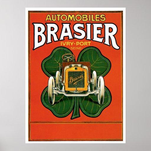 Automobiles Brasier Poster