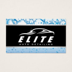 Automotive Auto Detailing Auto Spa Car Business Card at Zazzle