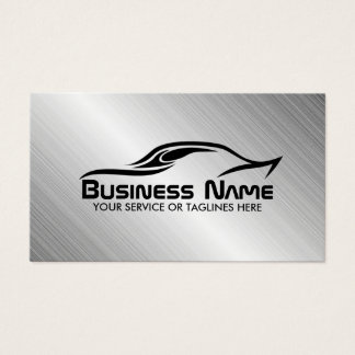 Automotive Auto Repair Cool Car Shape Metal Steel Business Card