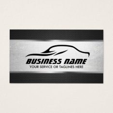 Automotive Auto Repair Cool Silver Professional Business Card at Zazzle
