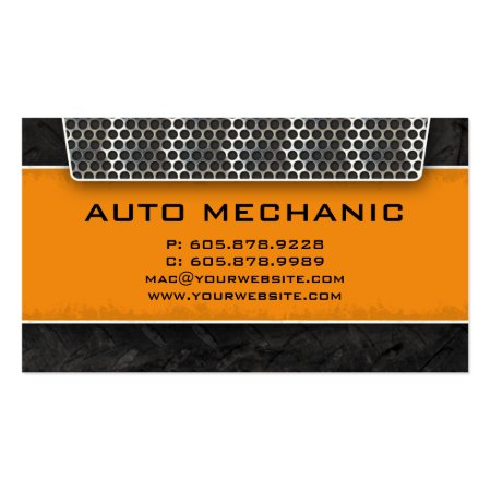 Carbon Filter Auto Mechanic Business Cards