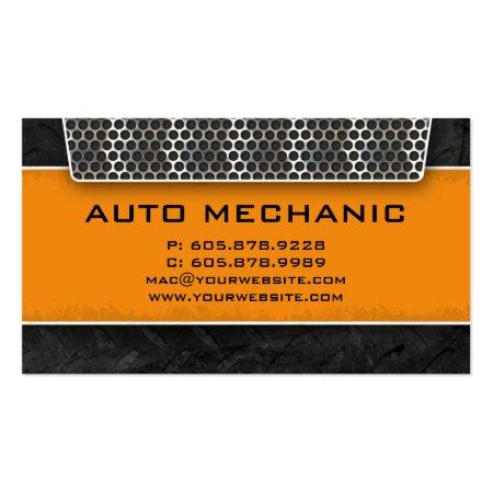 Carbon Filter Auto Mechanic Business Cards