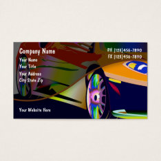 Automotive Business Cards at Zazzle