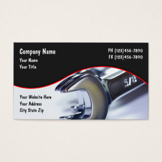 Mechanic Business Cards Templates Zazzle - Mechanic business cards templates free