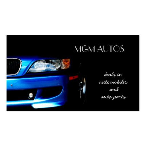 Automotive automotive business cards for Auto parts business cards