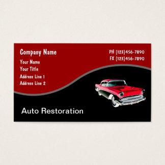 Automotive Business Cards Retro