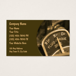 Automotive Business Cards Retro