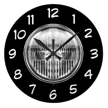 Automotive Car Headlight Mancave Clock