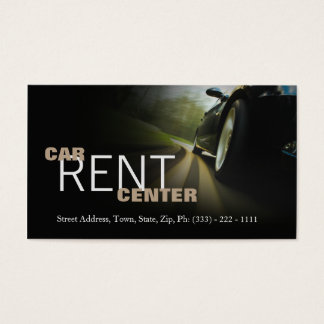 Automotive Car Rent Center Fast Road Business Card