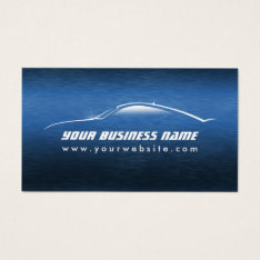 Automotive Cool Blue Car Auto Business Card at Zazzle